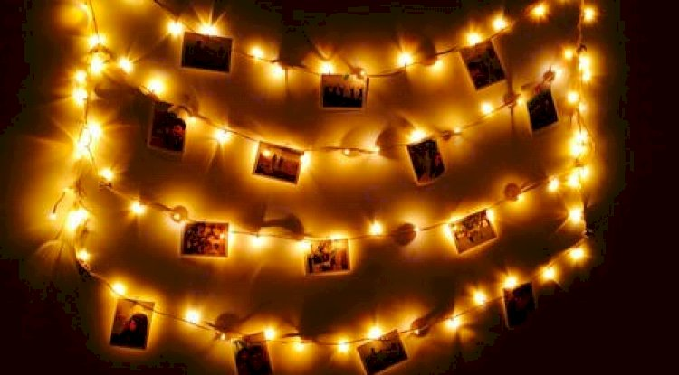 Fairy lights or candles in the hazy evenings